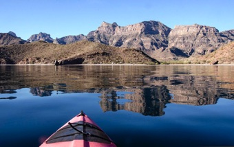 Kayaking the still waters of the Sea of Cortez