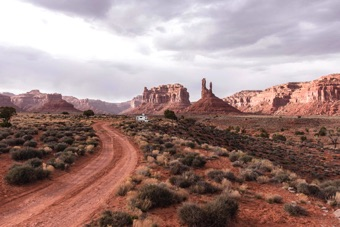 Valley of the Gods is a favorite place to camp and hike in southern Utah.